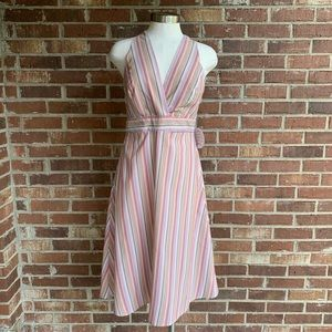 Gypsies & Moondust Striped Halter Dress Juniors 7